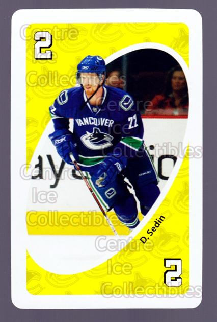 2007-08 Vancouver Canucks Mattel UNO #29 Daniel Sedin<br/>4 In Stock - $2.00 each - <a href=https://centericecollectibles.foxycart.com/cart?name=2007-08%20Vancouver%20Canucks%20Mattel%20UNO%20%2329%20Daniel%20Sedin...&price=$2.00&code=611238 class=foxycart> Buy it now! </a>