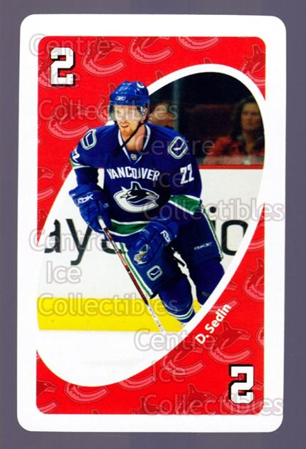 2007-08 Vancouver Canucks Mattel UNO #42 Daniel Sedin<br/>4 In Stock - $2.00 each - <a href=https://centericecollectibles.foxycart.com/cart?name=2007-08%20Vancouver%20Canucks%20Mattel%20UNO%20%2342%20Daniel%20Sedin...&price=$2.00&code=611251 class=foxycart> Buy it now! </a>