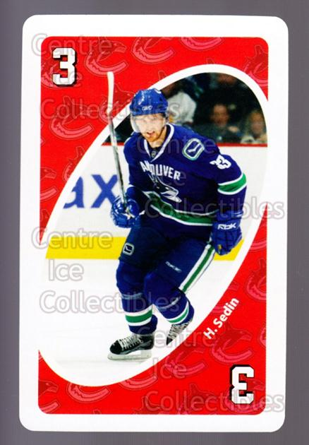 2007-08 Vancouver Canucks Mattel UNO #43 Henrik Sedin<br/>4 In Stock - $3.00 each - <a href=https://centericecollectibles.foxycart.com/cart?name=2007-08%20Vancouver%20Canucks%20Mattel%20UNO%20%2343%20Henrik%20Sedin...&quantity_max=4&price=$3.00&code=611252 class=foxycart> Buy it now! </a>