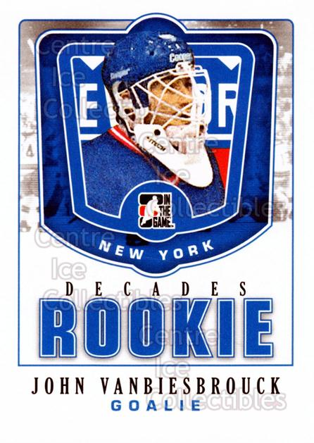 2010-11 ITG Decades 1980s Rookies #21 John Vanbiesbrouck<br/>5 In Stock - $3.00 each - <a href=https://centericecollectibles.foxycart.com/cart?name=2010-11%20ITG%20Decades%201980s%20Rookies%20%2321%20John%20Vanbiesbro...&quantity_max=5&price=$3.00&code=611285 class=foxycart> Buy it now! </a>