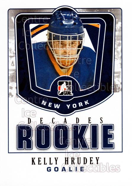 2010-11 ITG Decades 1980s Rookies #22 Kelly Hrudey<br/>5 In Stock - $3.00 each - <a href=https://centericecollectibles.foxycart.com/cart?name=2010-11%20ITG%20Decades%201980s%20Rookies%20%2322%20Kelly%20Hrudey...&quantity_max=5&price=$3.00&code=611286 class=foxycart> Buy it now! </a>
