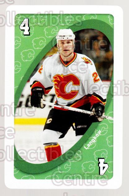 2007-08 Calgary Flames Mattel UNO #5 Daymond Langkow<br/>2 In Stock - $3.00 each - <a href=https://centericecollectibles.foxycart.com/cart?name=2007-08%20Calgary%20Flames%20Mattel%20UNO%20%235%20Daymond%20Langkow...&quantity_max=2&price=$3.00&code=611369 class=foxycart> Buy it now! </a>