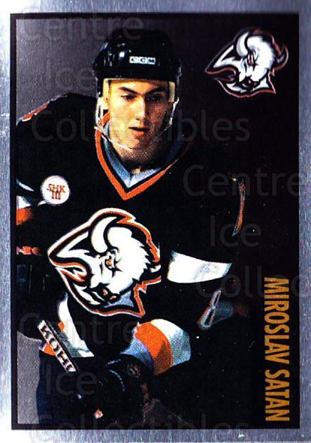 1997-98 Panini Stickers #126 Miroslav Satan<br/>4 In Stock - $1.00 each - <a href=https://centericecollectibles.foxycart.com/cart?name=1997-98%20Panini%20Stickers%20%23126%20Miroslav%20Satan...&quantity_max=4&price=$1.00&code=61137 class=foxycart> Buy it now! </a>