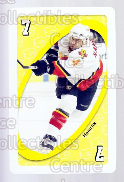 2007-08 Calgary Flames Mattel UNO #34 Roman Hamrlik<br/>1 In Stock - $3.00 each - <a href=https://centericecollectibles.foxycart.com/cart?name=2007-08%20Calgary%20Flames%20Mattel%20UNO%20%2334%20Roman%20Hamrlik...&quantity_max=1&price=$3.00&code=611398 class=foxycart> Buy it now! </a>