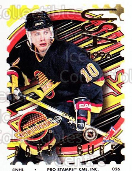 1996-97 NHL Pro Stamps #26 Pavel Bure<br/>42 In Stock - $2.00 each - <a href=https://centericecollectibles.foxycart.com/cart?name=1996-97%20NHL%20Pro%20Stamps%20%2326%20Pavel%20Bure...&quantity_max=42&price=$2.00&code=611468 class=foxycart> Buy it now! </a>