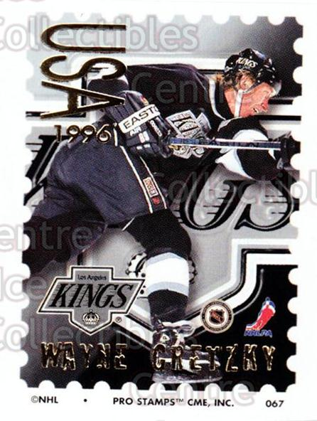 1996-97 NHL Pro Stamps #67 Wayne Gretzky<br/>41 In Stock - $5.00 each - <a href=https://centericecollectibles.foxycart.com/cart?name=1996-97%20NHL%20Pro%20Stamps%20%2367%20Wayne%20Gretzky...&quantity_max=41&price=$5.00&code=611471 class=foxycart> Buy it now! </a>