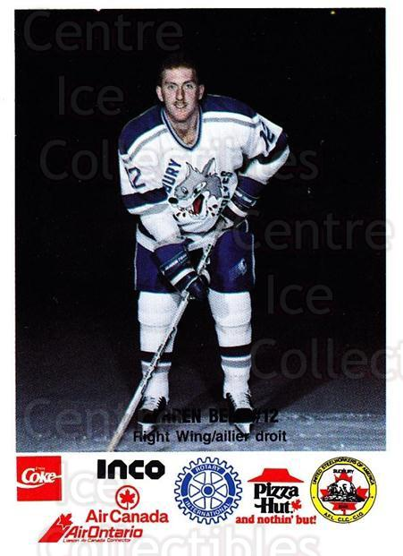 1989-90 Sudbury Wolves Police #4 Darren Bell<br/>1 In Stock - $3.00 each - <a href=https://centericecollectibles.foxycart.com/cart?name=1989-90%20Sudbury%20Wolves%20Police%20%234%20Darren%20Bell...&quantity_max=1&price=$3.00&code=611481 class=foxycart> Buy it now! </a>