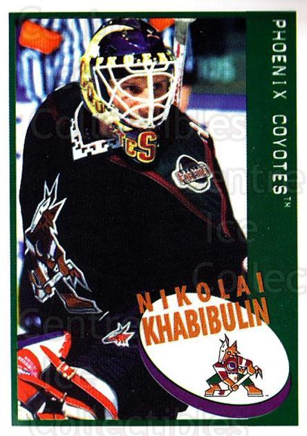 1997-98 Panini Stickers #155 Nikolai Khabibulin<br/>4 In Stock - $1.00 each - <a href=https://centericecollectibles.foxycart.com/cart?name=1997-98%20Panini%20Stickers%20%23155%20Nikolai%20Khabibu...&quantity_max=4&price=$1.00&code=61164 class=foxycart> Buy it now! </a>