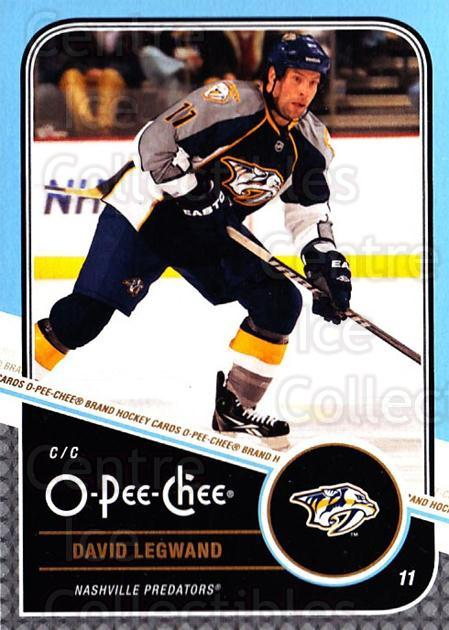 2011-12 O-Pee-Chee #460 David Legwand<br/>1 In Stock - $1.00 each - <a href=https://centericecollectibles.foxycart.com/cart?name=2011-12%20O-Pee-Chee%20%23460%20David%20Legwand...&quantity_max=1&price=$1.00&code=612060 class=foxycart> Buy it now! </a>