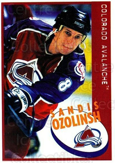 1997-98 Panini Stickers #206 Sandis Ozolinsh<br/>4 In Stock - $1.00 each - <a href=https://centericecollectibles.foxycart.com/cart?name=1997-98%20Panini%20Stickers%20%23206%20Sandis%20Ozolinsh...&quantity_max=4&price=$1.00&code=61215 class=foxycart> Buy it now! </a>