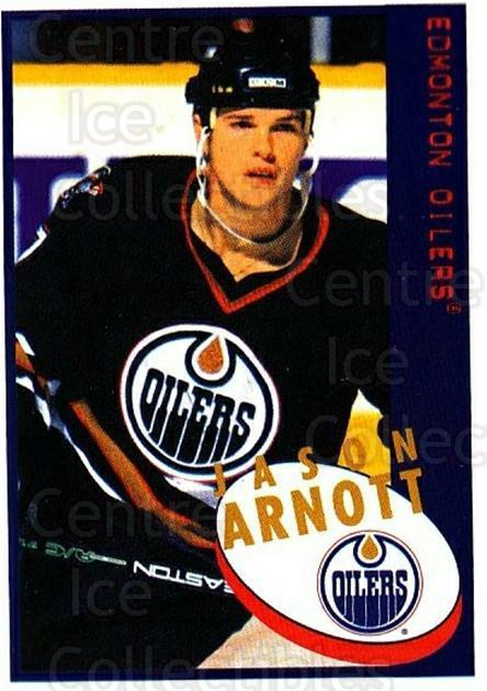 1997-98 Panini Stickers #210 Jason Arnott<br/>5 In Stock - $1.00 each - <a href=https://centericecollectibles.foxycart.com/cart?name=1997-98%20Panini%20Stickers%20%23210%20Jason%20Arnott...&quantity_max=5&price=$1.00&code=61219 class=foxycart> Buy it now! </a>