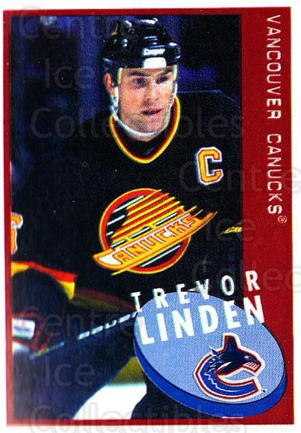 1997-98 Panini Stickers #242 Trevor Linden<br/>1 In Stock - $1.00 each - <a href=https://centericecollectibles.foxycart.com/cart?name=1997-98%20Panini%20Stickers%20%23242%20Trevor%20Linden...&quantity_max=1&price=$1.00&code=61253 class=foxycart> Buy it now! </a>