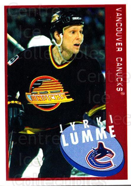 1997-98 Panini Stickers #244 Jyrki Lumme<br/>5 In Stock - $1.00 each - <a href=https://centericecollectibles.foxycart.com/cart?name=1997-98%20Panini%20Stickers%20%23244%20Jyrki%20Lumme...&quantity_max=5&price=$1.00&code=61255 class=foxycart> Buy it now! </a>