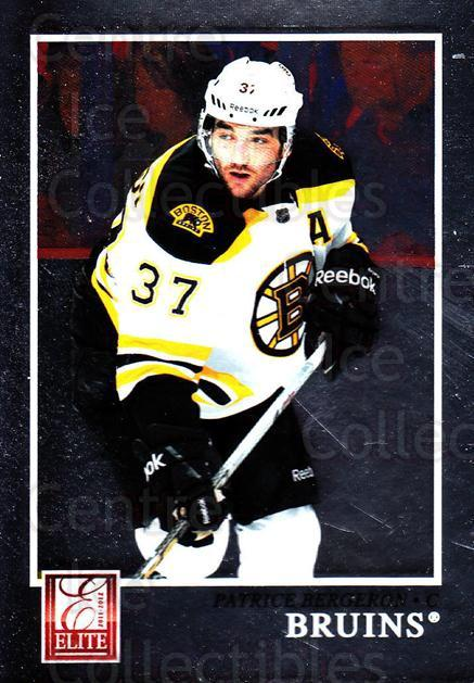 2011-12 Elite #17 Patrice Bergeron<br/>3 In Stock - $2.00 each - <a href=https://centericecollectibles.foxycart.com/cart?name=2011-12%20Elite%20%2317%20Patrice%20Bergero...&quantity_max=3&price=$2.00&code=612908 class=foxycart> Buy it now! </a>