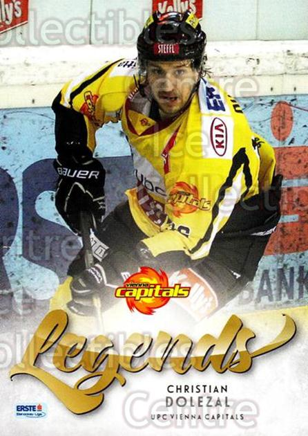 2013-14 Erste Bank Eishockey Liga EBEL Legends #8 Christian Dolezal<br/>2 In Stock - $3.00 each - <a href=https://centericecollectibles.foxycart.com/cart?name=2013-14%20Erste%20Bank%20Eishockey%20Liga%20EBEL%20Legends%20%238%20Christian%20Dolez...&quantity_max=2&price=$3.00&code=614163 class=foxycart> Buy it now! </a>