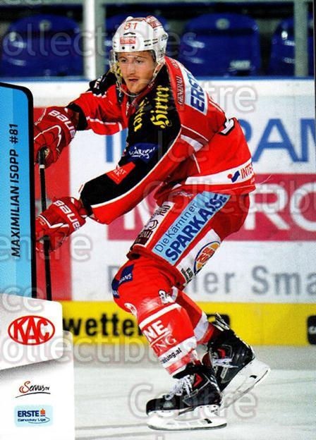 2013-14 Erste Bank Eishockey Liga EBEL #224 Maximilian Isopp<br/>5 In Stock - $2.00 each - <a href=https://centericecollectibles.foxycart.com/cart?name=2013-14%20Erste%20Bank%20Eishockey%20Liga%20EBEL%20%23224%20Maximilian%20Isop...&quantity_max=5&price=$2.00&code=614169 class=foxycart> Buy it now! </a>