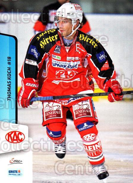 2013-14 Erste Bank Eishockey Liga EBEL #227 Thomas Koch<br/>5 In Stock - $2.00 each - <a href=https://centericecollectibles.foxycart.com/cart?name=2013-14%20Erste%20Bank%20Eishockey%20Liga%20EBEL%20%23227%20Thomas%20Koch...&quantity_max=5&price=$2.00&code=614172 class=foxycart> Buy it now! </a>