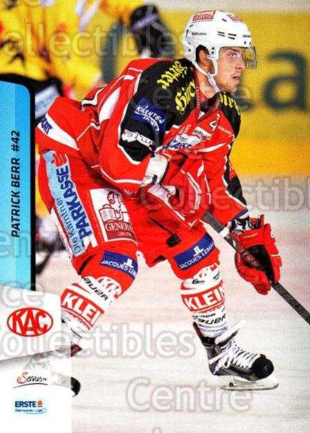 2013-14 Erste Bank Eishockey Liga EBEL #228 Patrick Berr<br/>5 In Stock - $2.00 each - <a href=https://centericecollectibles.foxycart.com/cart?name=2013-14%20Erste%20Bank%20Eishockey%20Liga%20EBEL%20%23228%20Patrick%20Berr...&quantity_max=5&price=$2.00&code=614173 class=foxycart> Buy it now! </a>