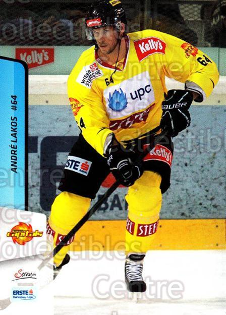 2013-14 Erste Bank Eishockey Liga EBEL #232 Andre Lakos<br/>3 In Stock - $2.00 each - <a href=https://centericecollectibles.foxycart.com/cart?name=2013-14%20Erste%20Bank%20Eishockey%20Liga%20EBEL%20%23232%20Andre%20Lakos...&quantity_max=3&price=$2.00&code=614177 class=foxycart> Buy it now! </a>