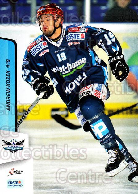 2013-14 Erste Bank Eishockey Liga EBEL #242 Andrew Kozek<br/>4 In Stock - $2.00 each - <a href=https://centericecollectibles.foxycart.com/cart?name=2013-14%20Erste%20Bank%20Eishockey%20Liga%20EBEL%20%23242%20Andrew%20Kozek...&quantity_max=4&price=$2.00&code=614187 class=foxycart> Buy it now! </a>