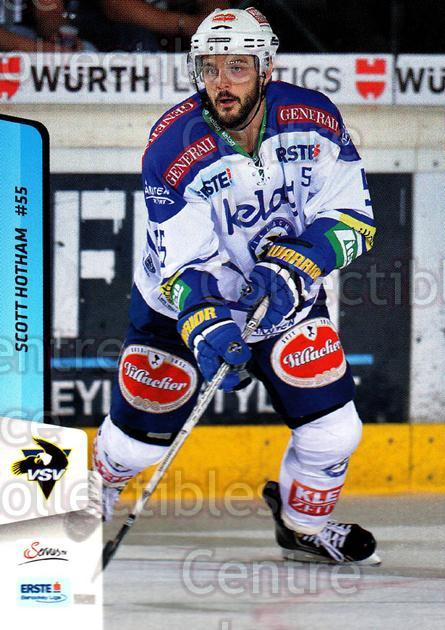 2013-14 Erste Bank Eishockey Liga EBEL #252 Scott Hotham<br/>3 In Stock - $2.00 each - <a href=https://centericecollectibles.foxycart.com/cart?name=2013-14%20Erste%20Bank%20Eishockey%20Liga%20EBEL%20%23252%20Scott%20Hotham...&quantity_max=3&price=$2.00&code=614197 class=foxycart> Buy it now! </a>