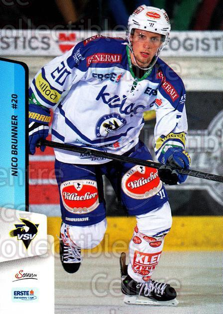 2013-14 Erste Bank Eishockey Liga EBEL #253 Nico Brunner<br/>5 In Stock - $2.00 each - <a href=https://centericecollectibles.foxycart.com/cart?name=2013-14%20Erste%20Bank%20Eishockey%20Liga%20EBEL%20%23253%20Nico%20Brunner...&quantity_max=5&price=$2.00&code=614198 class=foxycart> Buy it now! </a>