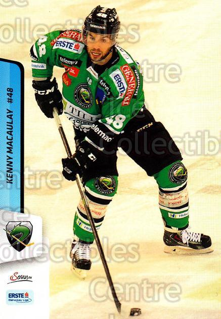 2013-14 Erste Bank Eishockey Liga EBEL #273 Kenny Macaulay<br/>4 In Stock - $2.00 each - <a href=https://centericecollectibles.foxycart.com/cart?name=2013-14%20Erste%20Bank%20Eishockey%20Liga%20EBEL%20%23273%20Kenny%20Macaulay...&quantity_max=4&price=$2.00&code=614218 class=foxycart> Buy it now! </a>