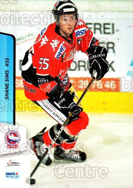 2013-14 Erste Bank Eishockey Liga EBEL #293 Shane Sims<br/>2 In Stock - $2.00 each - <a href=https://centericecollectibles.foxycart.com/cart?name=2013-14%20Erste%20Bank%20Eishockey%20Liga%20EBEL%20%23293%20Shane%20Sims...&quantity_max=2&price=$2.00&code=614238 class=foxycart> Buy it now! </a>