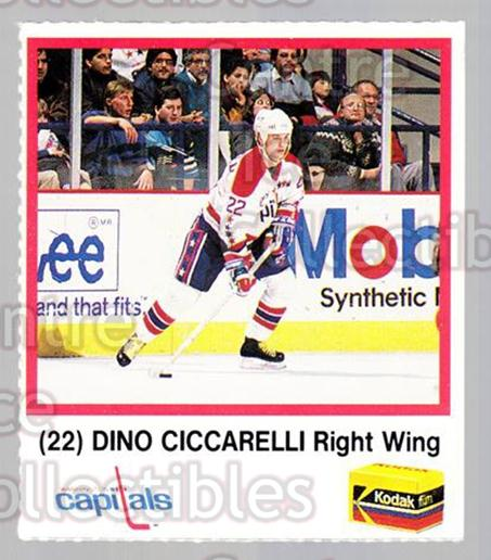 1989-90 Washington Capitals Kodak #3 Dino Ciccarelli<br/>2 In Stock - $3.00 each - <a href=https://centericecollectibles.foxycart.com/cart?name=1989-90%20Washington%20Capitals%20Kodak%20%233%20Dino%20Ciccarelli...&quantity_max=2&price=$3.00&code=614252 class=foxycart> Buy it now! </a>