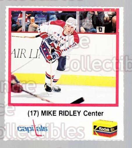 1989-90 Washington Capitals Kodak #21 Mike Ridley<br/>2 In Stock - $3.00 each - <a href=https://centericecollectibles.foxycart.com/cart?name=1989-90%20Washington%20Capitals%20Kodak%20%2321%20Mike%20Ridley...&quantity_max=2&price=$3.00&code=614270 class=foxycart> Buy it now! </a>