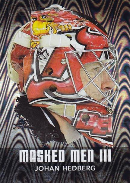 2010-11 Between The Pipes Masked Men III Silver #25 Johan Hedberg<br/>1 In Stock - $5.00 each - <a href=https://centericecollectibles.foxycart.com/cart?name=2010-11%20Between%20The%20Pipes%20Masked%20Men%20III%20Silver%20%2325%20Johan%20Hedberg...&quantity_max=1&price=$5.00&code=614550 class=foxycart> Buy it now! </a>