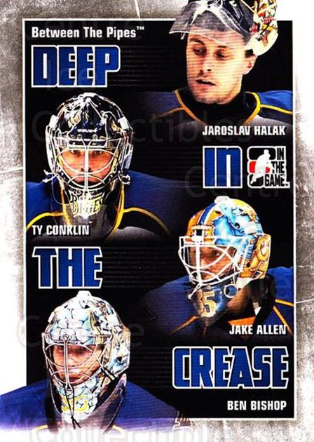 2010-11 Between The Pipes Deep In The Crease #26 Jaroslav Halak, Ty Conklin, Jake Allen, Ben Bishop<br/>2 In Stock - $3.00 each - <a href=https://centericecollectibles.foxycart.com/cart?name=2010-11%20Between%20The%20Pipes%20Deep%20In%20The%20Crease%20%2326%20Jaroslav%20Halak,...&quantity_max=2&price=$3.00&code=614633 class=foxycart> Buy it now! </a>