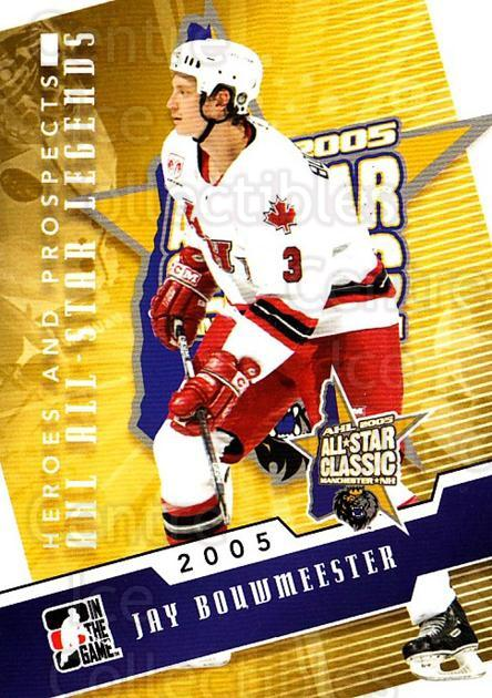 2009-10 ITG Heroes and Prospects AHL All Star Legends #13 Jay Bouwmeester<br/>1 In Stock - $3.00 each - <a href=https://centericecollectibles.foxycart.com/cart?name=2009-10%20ITG%20Heroes%20and%20Prospects%20AHL%20All%20Star%20Legends%20%2313%20Jay%20Bouwmeester...&quantity_max=1&price=$3.00&code=614734 class=foxycart> Buy it now! </a>