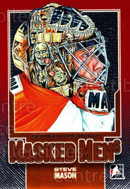 2013-14 Between the Pipes Masked Men 6 Red #10 Steve Mason<br/>3 In Stock - $5.00 each - <a href=https://centericecollectibles.foxycart.com/cart?name=2013-14%20Between%20the%20Pipes%20Masked%20Men%206%20Red%20%2310%20Steve%20Mason...&quantity_max=3&price=$5.00&code=614751 class=foxycart> Buy it now! </a>