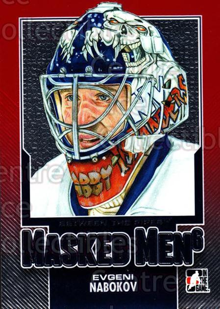 2013-14 Between the Pipes Masked Men 6 Red #11 Evgeni Nabokov<br/>1 In Stock - $5.00 each - <a href=https://centericecollectibles.foxycart.com/cart?name=2013-14%20Between%20the%20Pipes%20Masked%20Men%206%20Red%20%2311%20Evgeni%20Nabokov...&quantity_max=1&price=$5.00&code=614752 class=foxycart> Buy it now! </a>