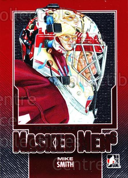 2013-14 Between the Pipes Masked Men 6 Red #14 Mike Smith<br/>1 In Stock - $5.00 each - <a href=https://centericecollectibles.foxycart.com/cart?name=2013-14%20Between%20the%20Pipes%20Masked%20Men%206%20Red%20%2314%20Mike%20Smith...&quantity_max=1&price=$5.00&code=614755 class=foxycart> Buy it now! </a>