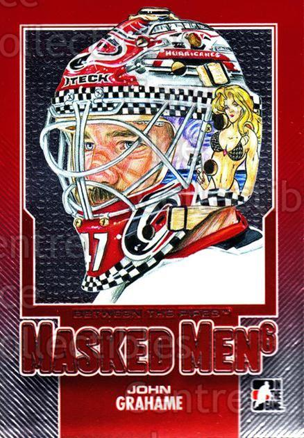 2013-14 Between the Pipes Masked Men 6 Red #29 John Grahame<br/>1 In Stock - $5.00 each - <a href=https://centericecollectibles.foxycart.com/cart?name=2013-14%20Between%20the%20Pipes%20Masked%20Men%206%20Red%20%2329%20John%20Grahame...&quantity_max=1&price=$5.00&code=614770 class=foxycart> Buy it now! </a>