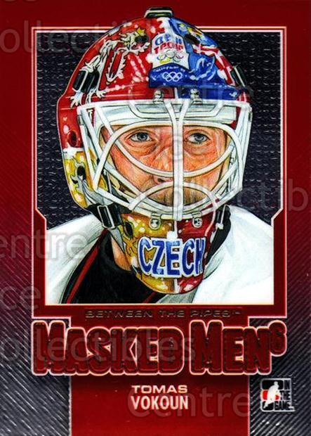 2013-14 Between the Pipes Masked Men 6 Red #50 Tomas Vokoun<br/>1 In Stock - $5.00 each - <a href=https://centericecollectibles.foxycart.com/cart?name=2013-14%20Between%20the%20Pipes%20Masked%20Men%206%20Red%20%2350%20Tomas%20Vokoun...&quantity_max=1&price=$5.00&code=614791 class=foxycart> Buy it now! </a>