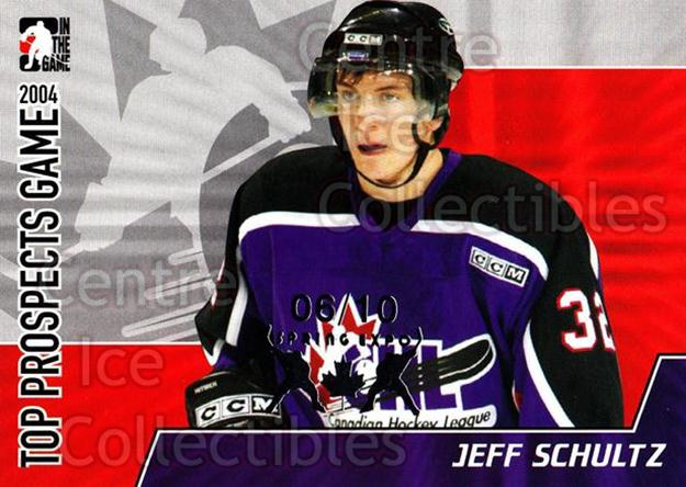 2004-05 ITG Heroes and Prospects Top Prospects Spring Expo #6 Jeff Schultz<br/>1 In Stock - $5.00 each - <a href=https://centericecollectibles.foxycart.com/cart?name=2004-05%20ITG%20Heroes%20and%20Prospects%20Top%20Prospects%20Spring%20Expo%20%236%20Jeff%20Schultz...&quantity_max=1&price=$5.00&code=614902 class=foxycart> Buy it now! </a>