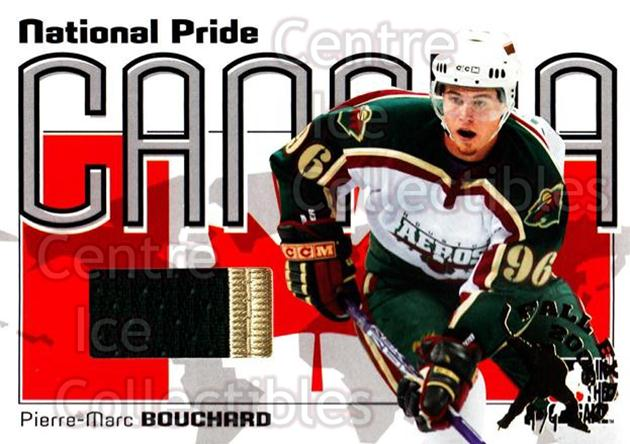 2005-06 ITG Heroes and Prospects National Pride Fall Expo /1 #7 Pierre-Marc Bouchard<br/>1 In Stock - $15.00 each - <a href=https://centericecollectibles.foxycart.com/cart?name=2005-06%20ITG%20Heroes%20and%20Prospects%20National%20Pride%20Fall%20Expo%20/1%20%237%20Pierre-Marc%20Bou...&quantity_max=1&price=$15.00&code=615468 class=foxycart> Buy it now! </a>