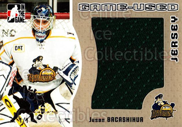 2005-06 ITG Heroes and Prospects Jersey Gold Fall Expo /1 #98 Jason Bacashihua<br/>1 In Stock - $15.00 each - <a href=https://centericecollectibles.foxycart.com/cart?name=2005-06%20ITG%20Heroes%20and%20Prospects%20Jersey%20Gold%20Fall%20Expo%20/1%20%2398%20Jason%20Bacashihu...&quantity_max=1&price=$15.00&code=615896 class=foxycart> Buy it now! </a>