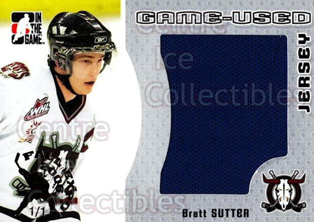 2005-06 ITG Heroes and Prospects Jersey Silver Fall Expo /1 #70 Brett Sutter<br/>1 In Stock - $15.00 each - <a href=https://centericecollectibles.foxycart.com/cart?name=2005-06%20ITG%20Heroes%20and%20Prospects%20Jersey%20Silver%20Fall%20Expo%20/1%20%2370%20Brett%20Sutter...&price=$15.00&code=615924 class=foxycart> Buy it now! </a>