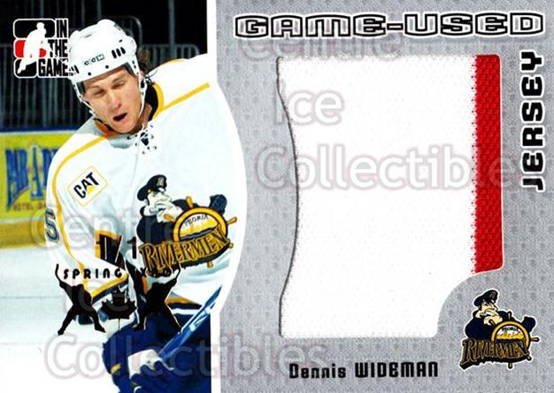 2005-06 ITG Heroes and Prospects Jersey Silver Spring Expo /1 #101 Dennis Wideman<br/>1 In Stock - $15.00 each - <a href=https://centericecollectibles.foxycart.com/cart?name=2005-06%20ITG%20Heroes%20and%20Prospects%20Jersey%20Silver%20Spring%20Expo%20/1%20%23101%20Dennis%20Wideman...&quantity_max=1&price=$15.00&code=616071 class=foxycart> Buy it now! </a>