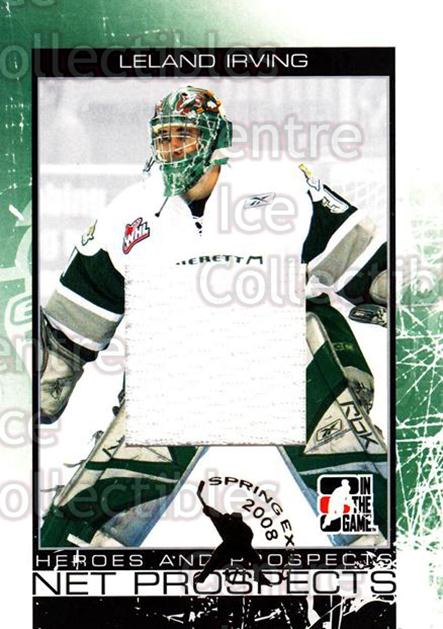2007-08 ITG Heroes and Prospects Net Prospects Silver Spring Expo /1 #11 Leland Irving<br/>1 In Stock - $15.00 each - <a href=https://centericecollectibles.foxycart.com/cart?name=2007-08%20ITG%20Heroes%20and%20Prospects%20Net%20Prospects%20Silver%20Spring%20Expo%20/1%20%2311%20Leland%20Irving...&quantity_max=1&price=$15.00&code=616305 class=foxycart> Buy it now! </a>