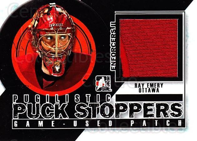 2013-14 ITG Enforcers Pugilistic Puck Stoppers Patch #4 Ray Emery<br/>1 In Stock - $10.00 each - <a href=https://centericecollectibles.foxycart.com/cart?name=2013-14%20ITG%20Enforcers%20Pugilistic%20Puck%20Stoppers%20Patch%20%234%20Ray%20Emery...&quantity_max=1&price=$10.00&code=616827 class=foxycart> Buy it now! </a>