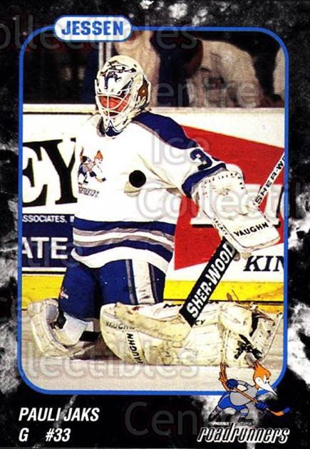 1993-94 Phoenix Roadrunners #11 Pauli Jaks<br/>5 In Stock - $3.00 each - <a href=https://centericecollectibles.foxycart.com/cart?name=1993-94%20Phoenix%20Roadrunners%20%2311%20Pauli%20Jaks...&quantity_max=5&price=$3.00&code=6176 class=foxycart> Buy it now! </a>