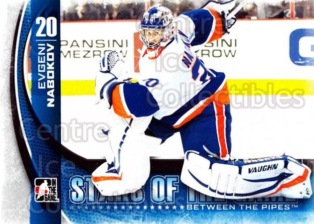 2013-14 Between the Pipes #7 Evgeni Nabokov<br/>10 In Stock - $1.00 each - <a href=https://centericecollectibles.foxycart.com/cart?name=2013-14%20Between%20the%20Pipes%20%237%20Evgeni%20Nabokov...&quantity_max=10&price=$1.00&code=617708 class=foxycart> Buy it now! </a>