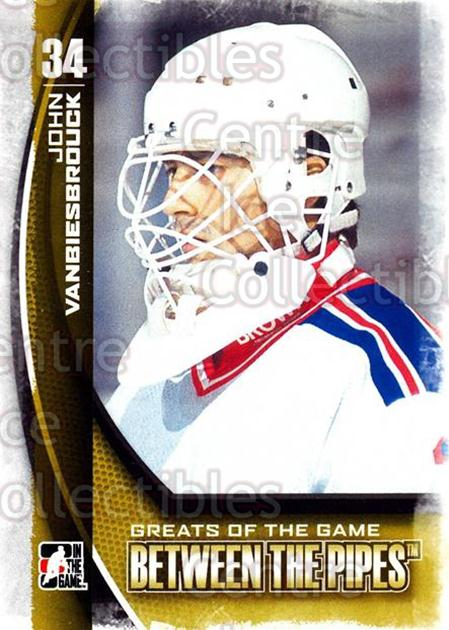 2013-14 Between the Pipes #121 John Vanbiesbrouck<br/>12 In Stock - $1.00 each - <a href=https://centericecollectibles.foxycart.com/cart?name=2013-14%20Between%20the%20Pipes%20%23121%20John%20Vanbiesbro...&quantity_max=12&price=$1.00&code=617822 class=foxycart> Buy it now! </a>