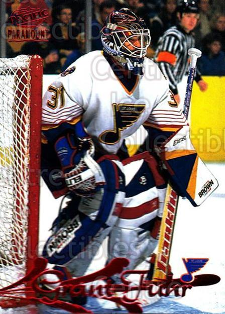1997-98 Paramount Red #158 Grant Fuhr<br/>3 In Stock - $2.00 each - <a href=https://centericecollectibles.foxycart.com/cart?name=1997-98%20Paramount%20Red%20%23158%20Grant%20Fuhr...&quantity_max=3&price=$2.00&code=61936 class=foxycart> Buy it now! </a>