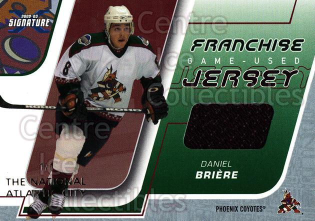 2002-03 BAP Signature Series Franchise Jersey National /1 #23 Daniel Briere<br/>1 In Stock - $15.00 each - <a href=https://centericecollectibles.foxycart.com/cart?name=2002-03%20BAP%20Signature%20Series%20Franchise%20Jersey%20National%20/1%20%2323%20Daniel%20Briere...&quantity_max=1&price=$15.00&code=619458 class=foxycart> Buy it now! </a>